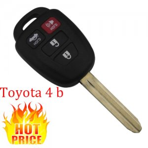 HOT-06 4 Buttons Remote Blank key shell for New toyota