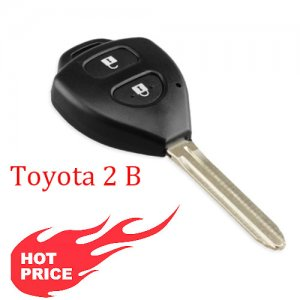 Hot-02 2 Buttons Remote Blank Key Shell for toyota