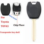 JM-029 Alloy chip Car key blanks shell case For Toyota toy43