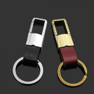 GX-171 Creative gift for men's metallic leather car keychain