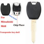 JM-030 alloy frame Transponder key shell For mitsubishi MIT8