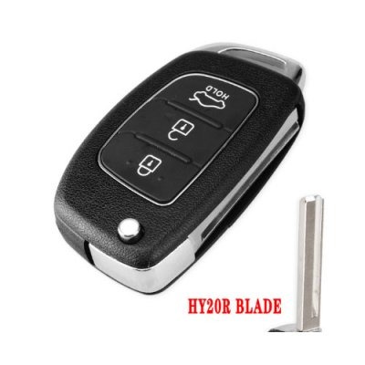 HY-07 3 Buttons Flip Folding Remote key shell for Hyundai