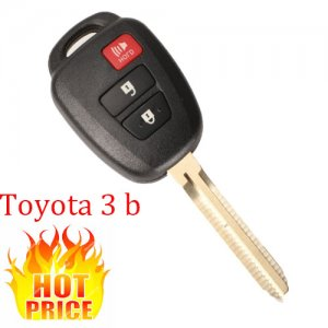 HOT-05 3 Buttons Remote Blank Key Fob Shell for toyota